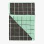 latticebathsheetcharcoal-bath sheet