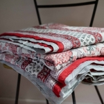 red jaali quilt