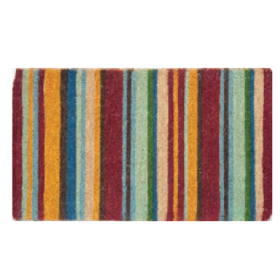 Hargroves 187 Orange Vertical Stripe Door Mat